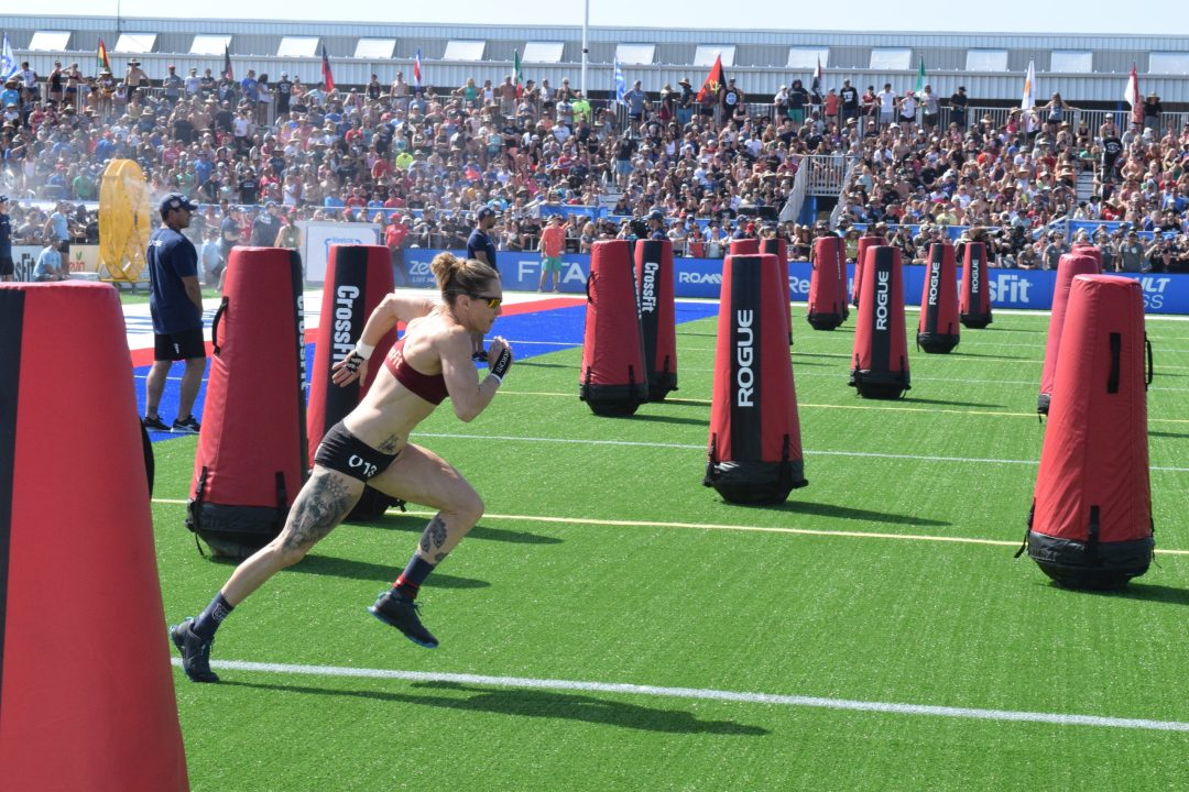 013 - Sam Briggs of the United Kingdom races in a heat of the Sprint event at the 2019 CrossFit Games