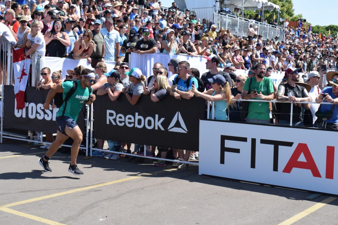 Will Moorad completes the Ruck Run event at the 2019 CrossFit Games