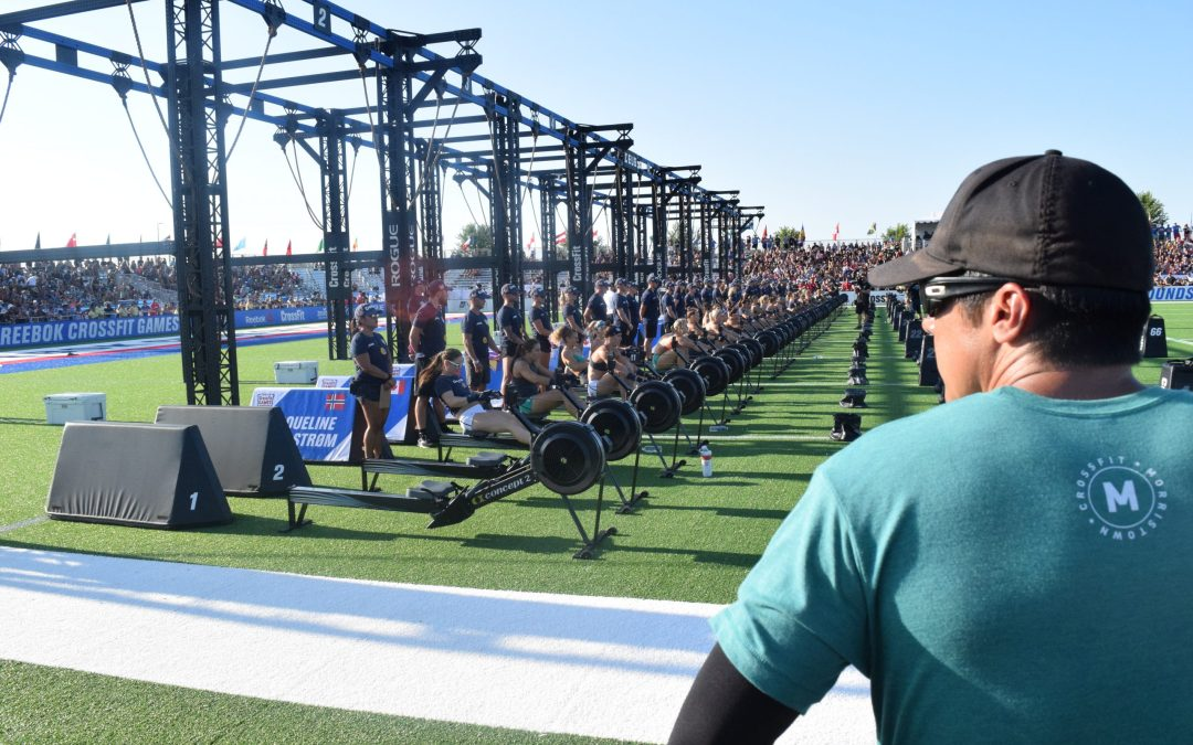 Dave Castro oversees the field at the 2019 CrossFit Games