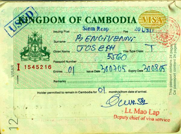 landing in Cambodia