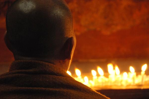 Monk at the Parinirvana Temple, Kushinagar
