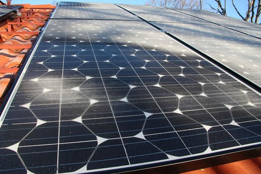 Frostnupa solceller. 7 november 2010.