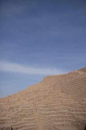 An abstract view of Huaca Pullana