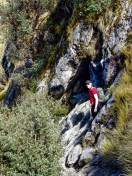 Ben after completing the easy scramble on the way to Lake Churup