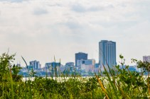 City view from the mangrove Isla Santay