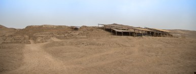 Parts of Pachacamac protected from the sun