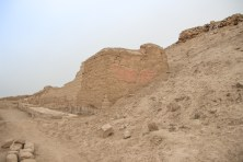 Remains of wall painting at Pachacamac