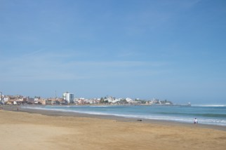 The beach at Huanchaco