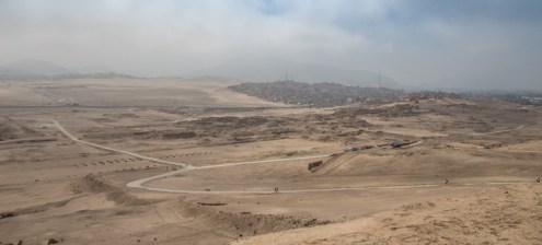 View from the pop of Pachacamac on the valley below