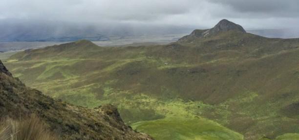 A verdant valley seen from Ruminahui