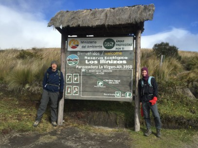 Ben and Justus at the start of Iliniza Norte