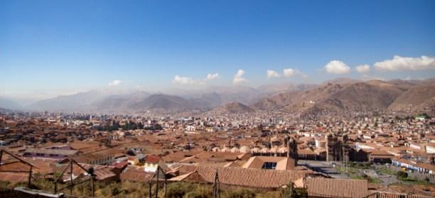 Cusco seen from San Cristobal