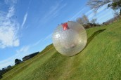 Ben rolling in a Zorb