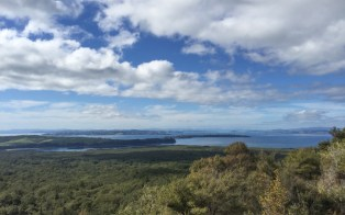 View of the bay from Rangitoto