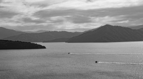 Boats in the bay from Karaka Point