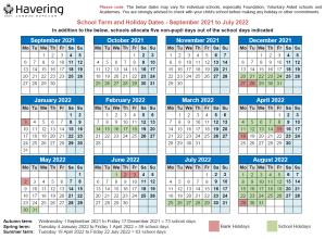 Benhurst Primary School Term Dates 2021/22