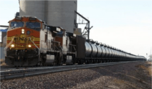 A BNSF Railway train hauls crude oil near Wolf Point, Mont. Montana officials intend to release details next week on oil trains passing through the state despite efforts by railroads to keep the information from the public. FILE PHOTO: MATT BROWN , AP