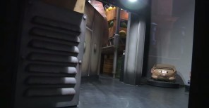 Escena con el vagón que será utilizado para recorrer la atracción