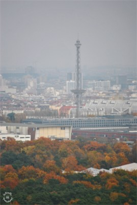 Skyline of Berlin, with Funkturm and Messe Berlin