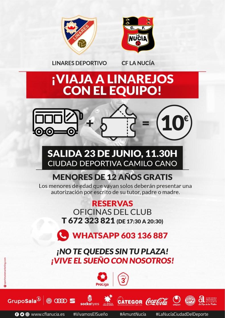 CF La Nucia Cartel Viaje Linares 2019