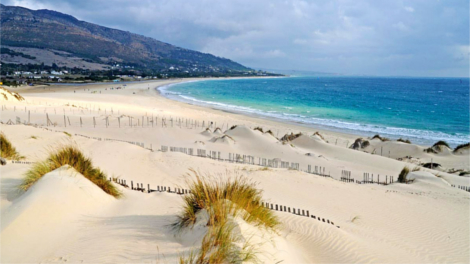 Cadiz Beach with rolling sand dunes