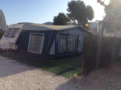 Touring caravan for sale on Camping Benidorm Campsite