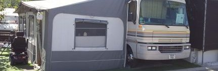 Motorhome for sale on Camping Villamar campsite in Benidorm