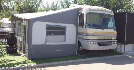 Motorhome for sale on Camping Villamar campsite in Benidorm