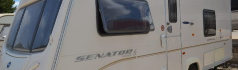 A touring caravan for sale in Spain