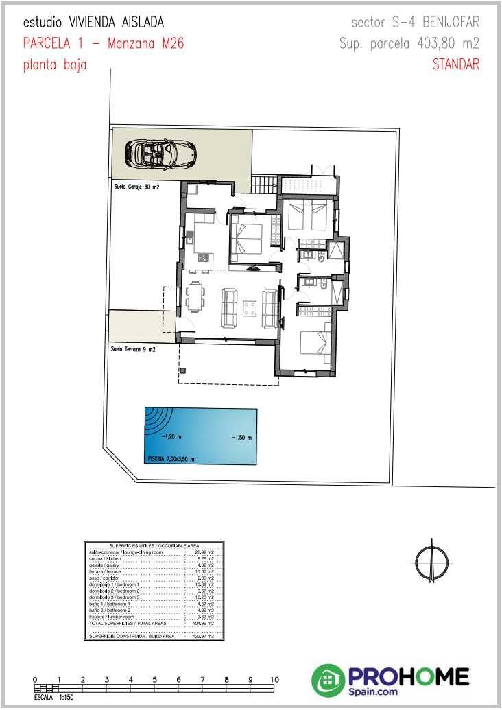 Benijofar Villas Plans and 3D Renders - Benijofar Villas