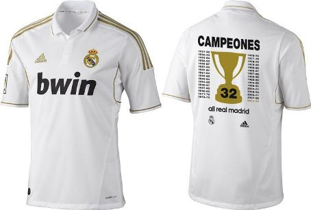 Maillot spécial 32 titres champion Real Madrid
