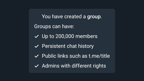 New Telegram Group