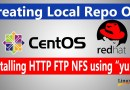Creating Local Repo on Centos or Redhat Linux & Installing http ftp nfs using yum | OneCodeMaster