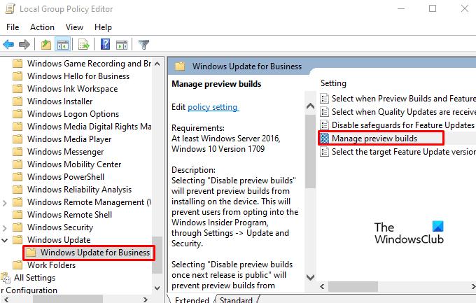 How to Disable Windows Insider Program Settings in Windows 10
