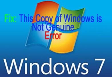 How Fix: This Copy of Windows is Not Genuine Error