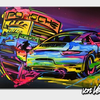 Sportscar, colorful graffiti, canvas, german, 911, carrera, Beni, veltum, art