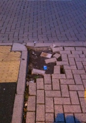 T&W Council re Broken Block Paving.