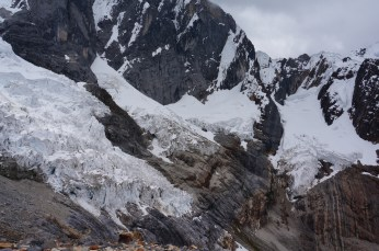 As the glaciers crept slowly by