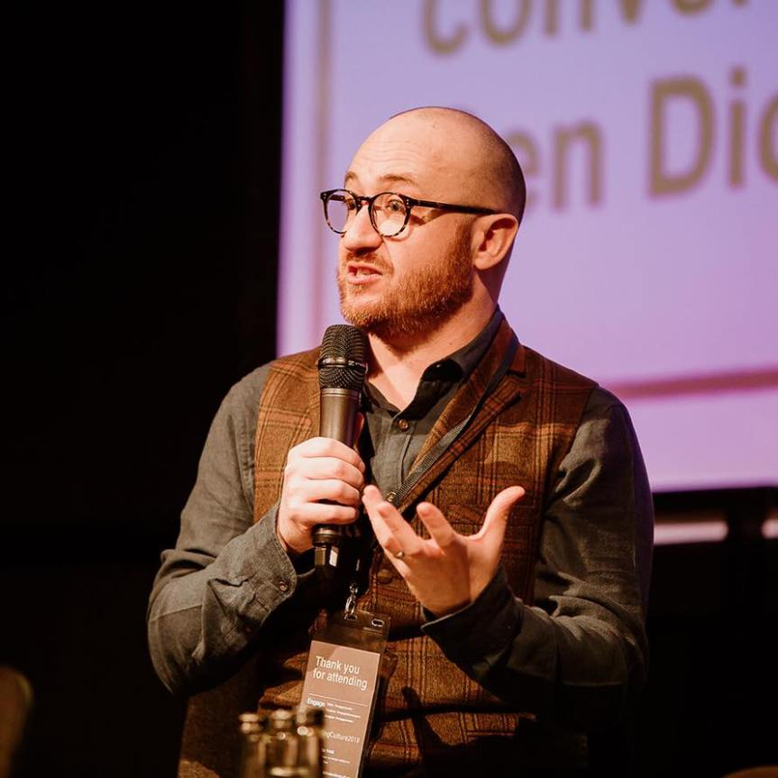 Ben Diickenson speaking at the Engage Conference 2019