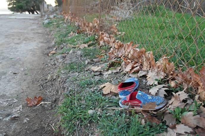 Girls Shoes, Lesvos, Greece, Benjamin Gow