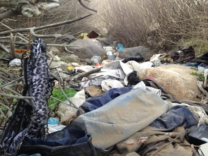 Knickers in the detritus, Lesvos, Greece, Benamin Gow