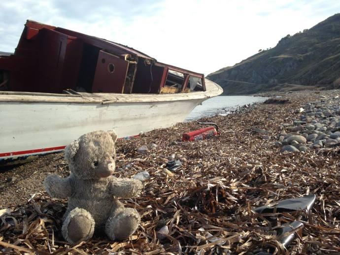 Teddy Bear, Lesvos, Greece, Benjamin Gow