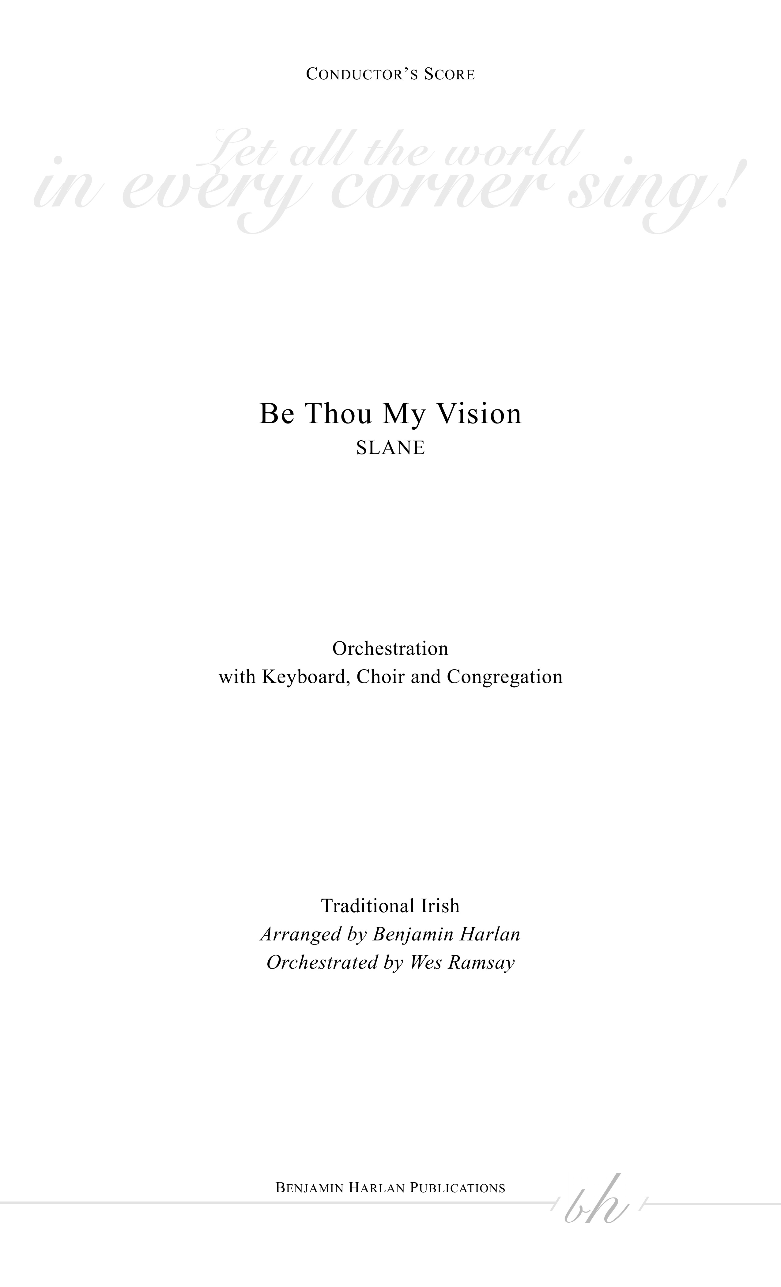 Be Thou My Vision ORCH