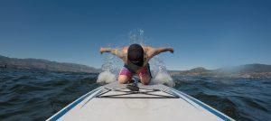 Paddleboarding on Okanagan Lake
