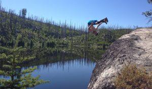 Front Flip into Beaver Lake, Okanagan Mountain Park, BC
