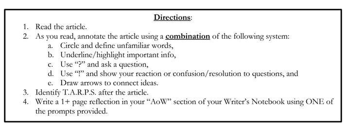 AoW Directions