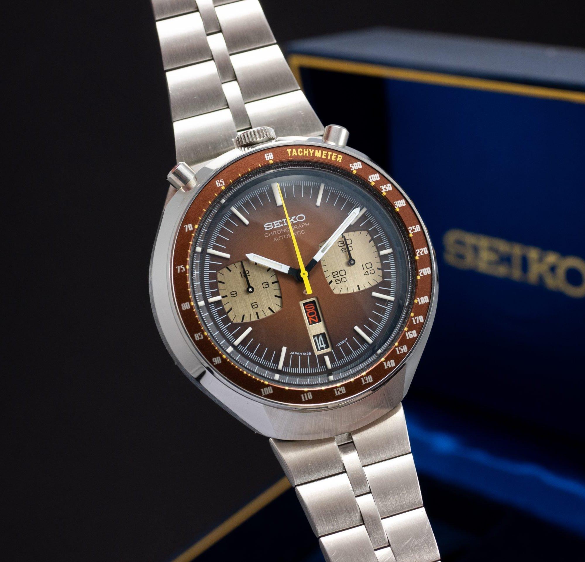 NOS vintage Seiko Bullhead Chronograph 6138-0040