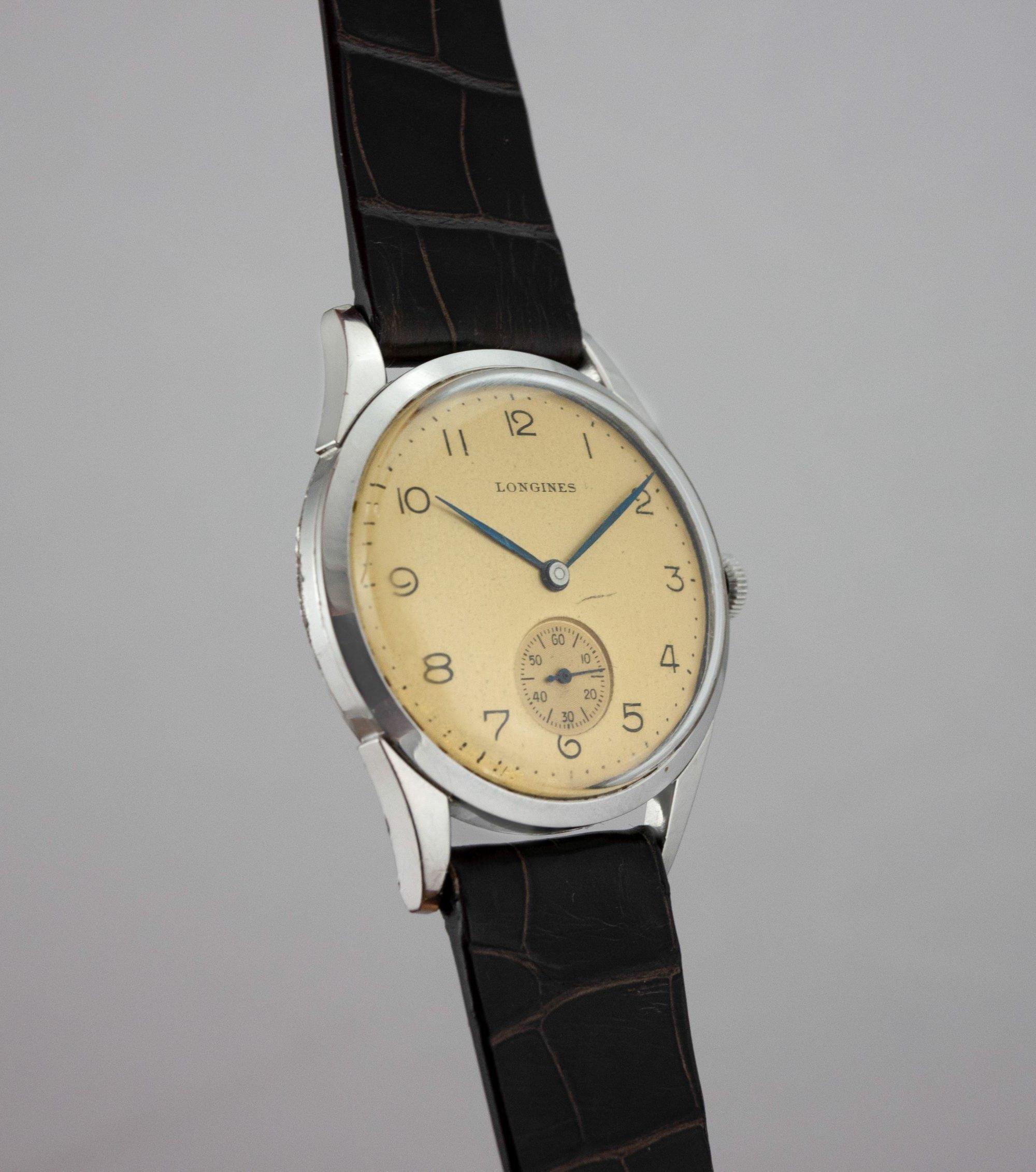 Vintage Longines cal. 12.68 Calatrava sub seconds arabic numerals