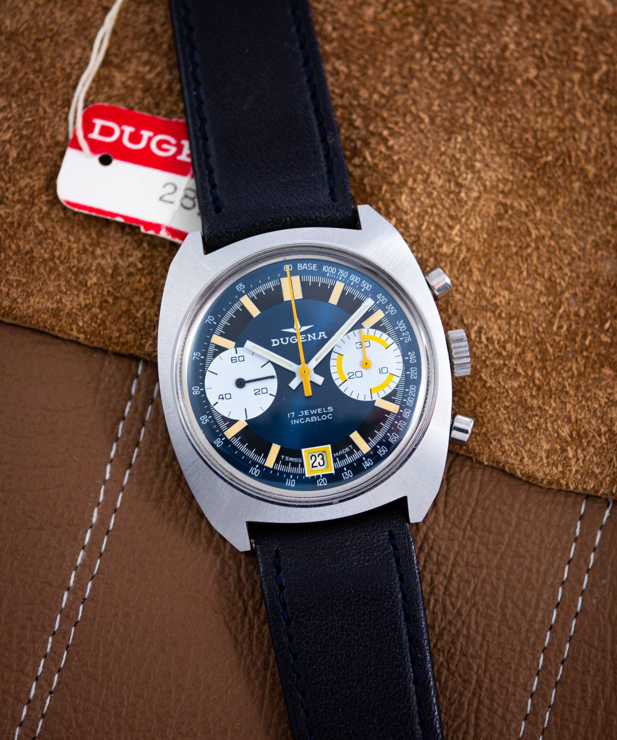 vintage Dugena Chronograph Valjoux 7734 NOS