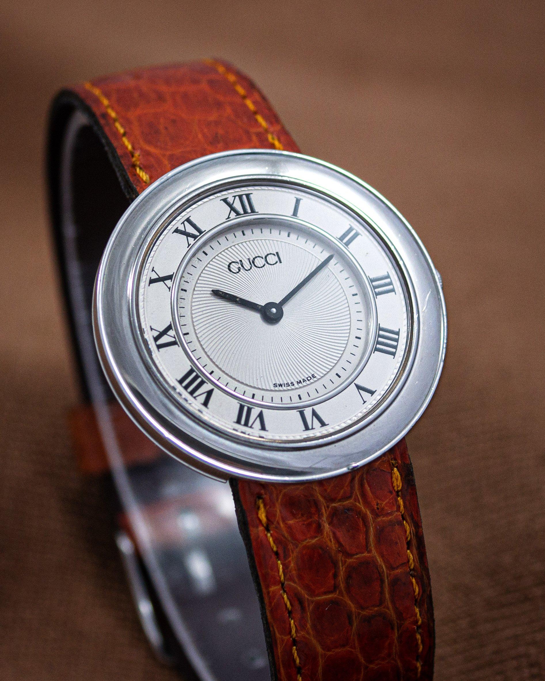 vintage Gucci watch Disco Volante guilloché dial